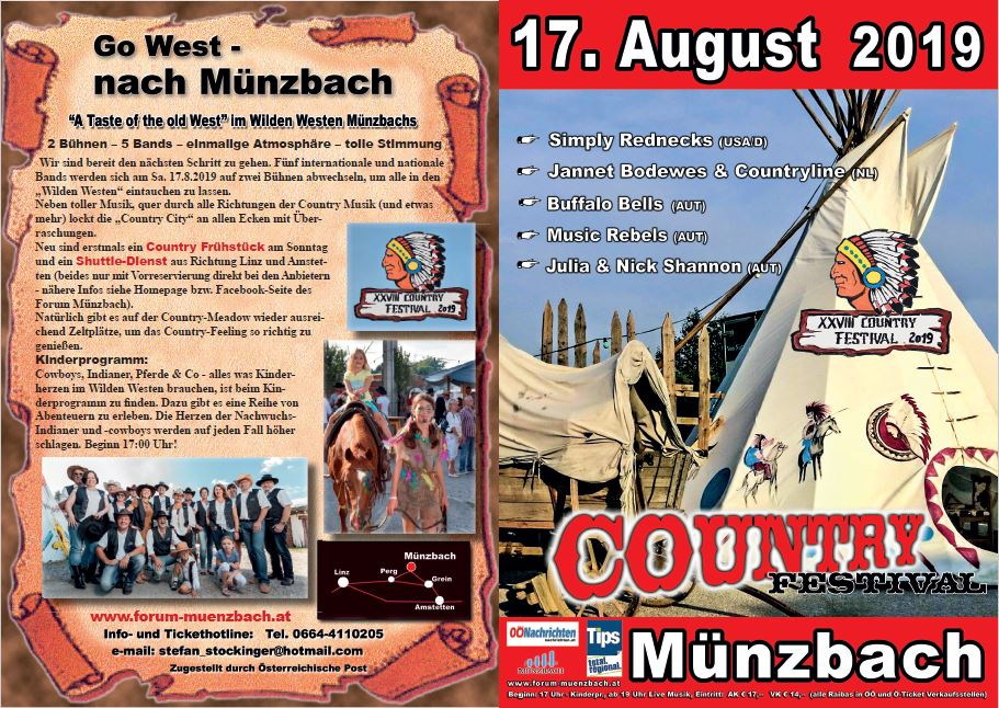 Country Festival Münzbach am 17. August